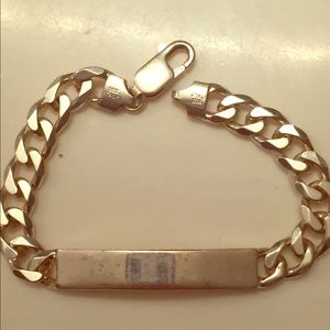 Jewelry - Engravable plate bracelet SS925 made in Italy