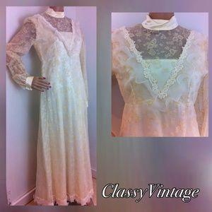 Vintage Dresses & Skirts - Antique white vintage maxi