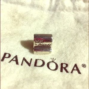 "Pandora Jewelry - Auth. PANDORA ""Best Friends"" SCROLL CHARM"