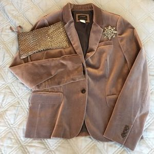 EUC JCrew velvet schoolboy blazer