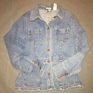 Vintage Jones Sport Denim Jacket Coat Blazer Small
