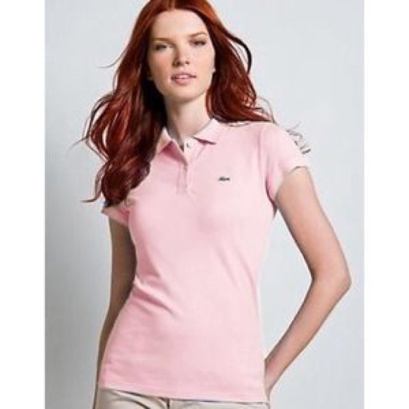 a6ad519889237e Lacoste Tops - Lacoste Women s Baby Pink Polo
