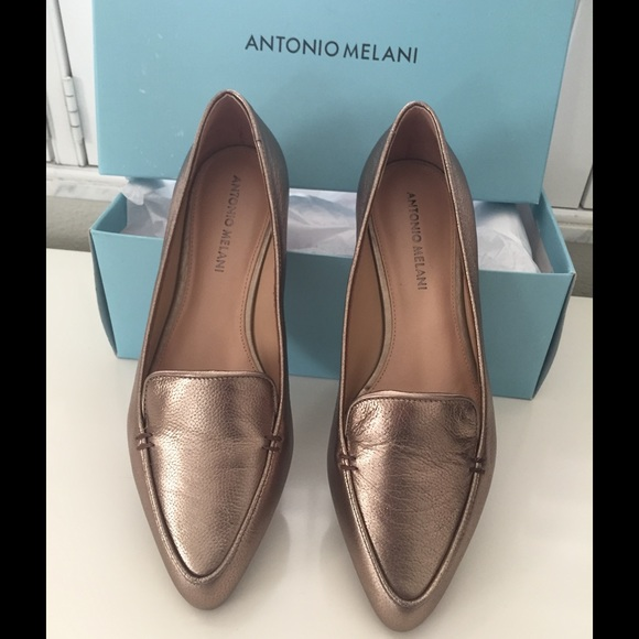 031ecc8059d Antonio Melani Cassea Metallic Leather flats