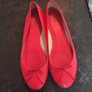 J.Crew red ballet flats