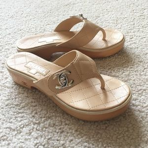 CHANEL Shoes - Authentic Chanel Sandals NWOT