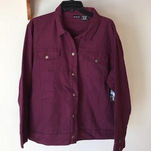 NWT Burgundy Jacket size XL