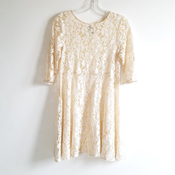 a9b5274bb41 Free People Dresses & Skirts - {FINAL} Free People Cream Lace Tunic Dress