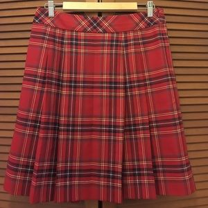 Brooks Brothers Dresses & Skirts - Brooks Brothers 346 red plaid wool skirt 8