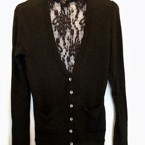 Long Sleeve Cardigan with Lace