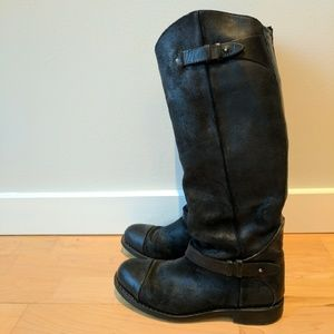 RAG & BONE Black Leather Moto Boot