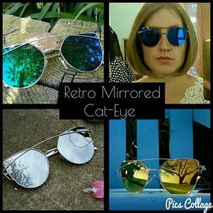 11 By Boris Bidjan Saberi Accessories - Retro Mirrored Cat-Eye Sunnies