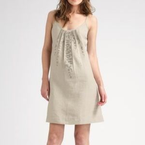 Eileen Fisher Sequin Organic Linen Tank Dress Sz S