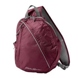 Eddie Bauer Handbags - Eddie Bauer sling bag in burgundy
