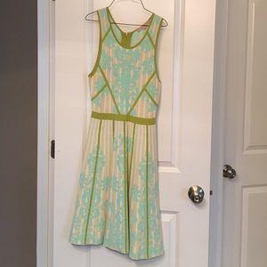 Champagne Dresses & Skirts - Vintage aqua/green zip back dress