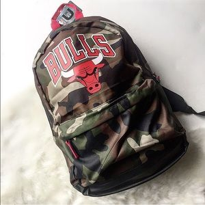 Other - NWT Chicago Bulls Camo Backpack