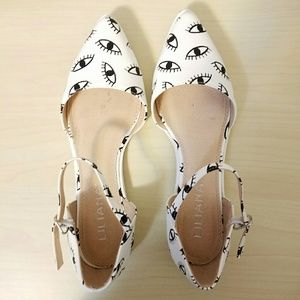 Liliana Shoes - Eye Print Flats