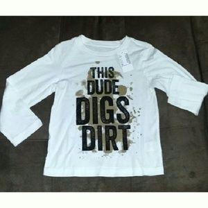 Children's Place Other - This Dude Digs Dirt Long Sleeve