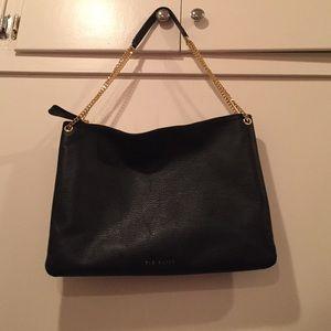 Ted Baker London Handbags - Large black leather Ted Baker tote bag.