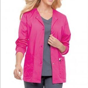 Landau Sweaters - Landau pink scrub coat jacket