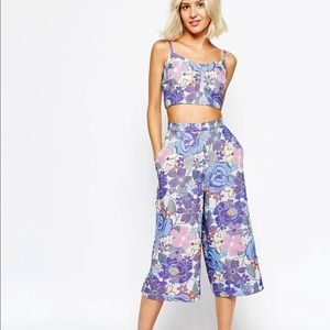 Jacquard Bralet (size 12) and culottes (size10)