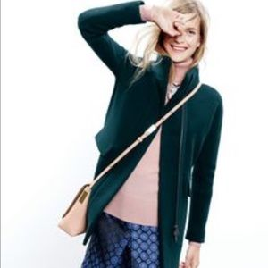 J. Crew Stadium Cloth Cocoon Coat, 2P, Deep Green