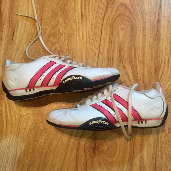 Casual Navy White Mens Adidas Goodyear Running Shoes Favorite Style