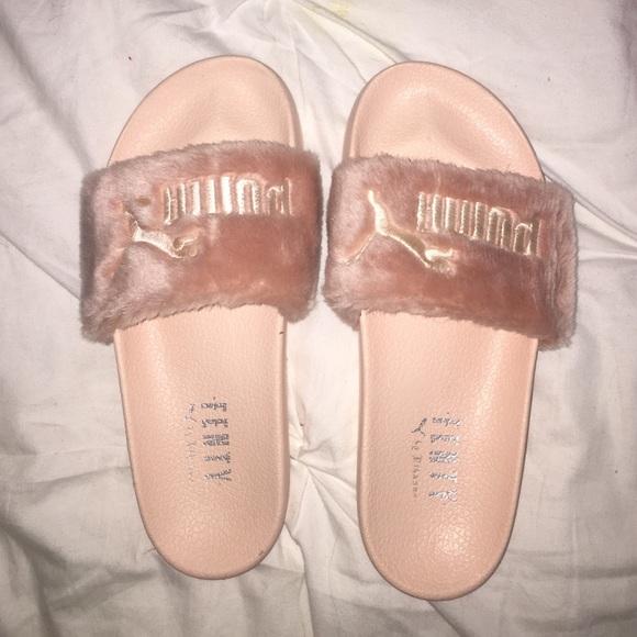 puma shoes rare baby pink rihanna fenty slides poshmark