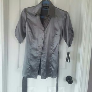 A. Byer Tops - A. Byer gunmetal button-down top