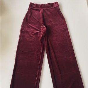 Susan Graver Pants - Susan Graver pants wide leg velvet