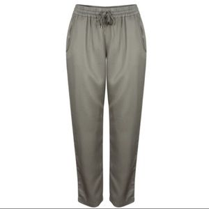 French Connection Pants - French Connection Silk/cotton Joggers.
