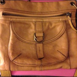 Fossil Handbags - Fossil yellow cross body purse