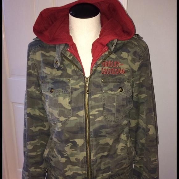 8f0b63e5f846e Harley-Davidson Jackets & Coats | Rare Harley Davidson Womens Camo ...
