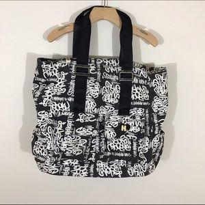 Harajuku Lovers Handbags - EUC Harajuku Lovers Black And White Tote