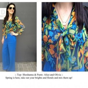 Alice + Olivia Other - Shoshanna blouse with Alice and Olivia pants
