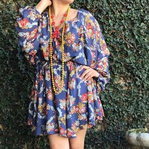 Parachute sleeve dress