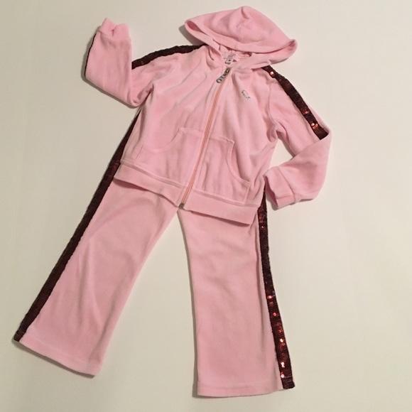 Sofi Matching Sets Pink Velour Sweat Suit Poshmark