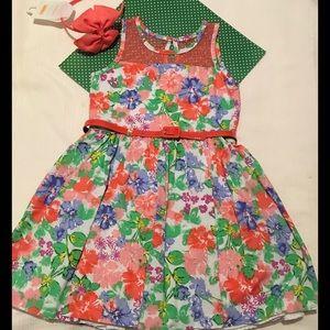 Nannette Other - 🌺NANNETTE gorgeous flower dress size 6 & Headband