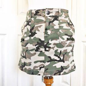 Love Fire Camo Cargo Skirt