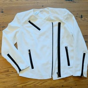 Helmut Lang White Asymmetrical Jacket