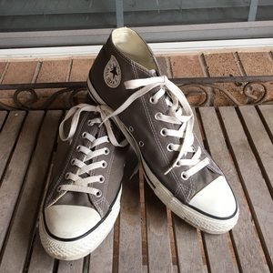 Mens Grey Hi Top Converse All Stars Sneakers
