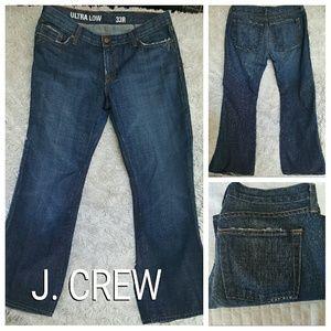 J. CREW JEANS ULTRA LOW SZ 33R