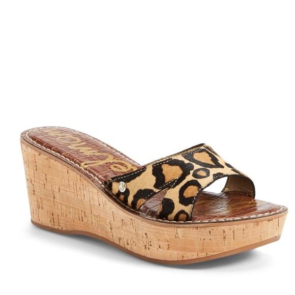 4afaa5f044bb Sam Edelman Cheetah Wedge Sandal