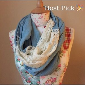 Accessories - Blue & Lace scarf 💙🎉