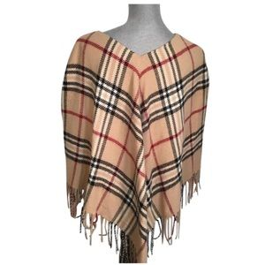 Lord & Taylor Sweaters - ❗️FINAL❗️Lord & Taylor Plaid Fringe Poncho