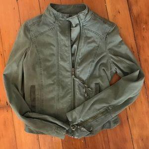 476f2001554c62 Anthropologie Jackets   Coats - Anthropologie Marrakech Jordan Green Moto  Jacket