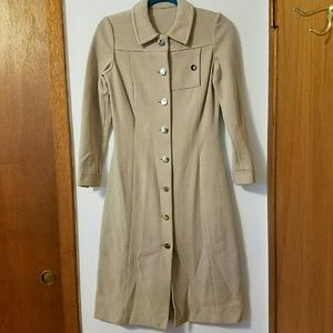 Unlisted Jackets & Blazers - Long Beige Vintage Coat