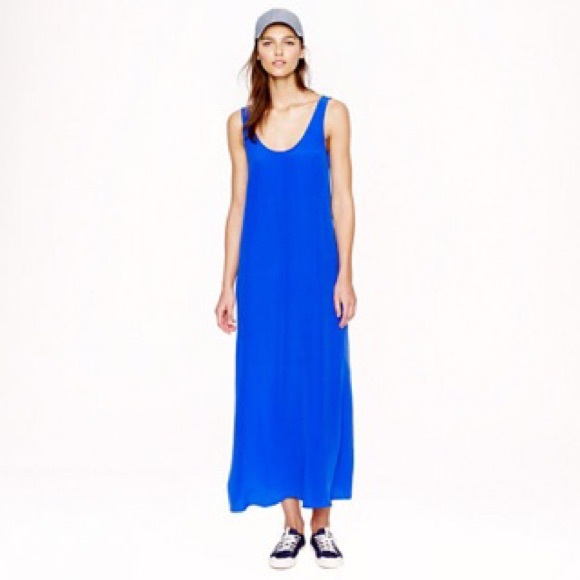 J. Crew Dresses & Skirts - J Crew summery maxi blue dress