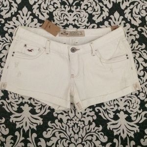 Hollister Pants - Hollister White Denim Shorts