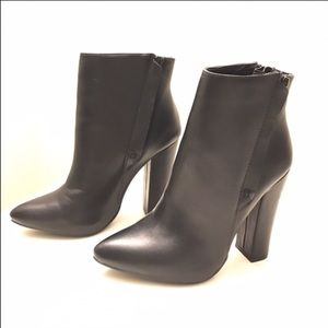 Black Booties Size 8 Perfect Condition