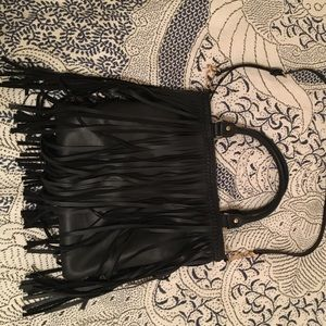 Nordstrom black fringe purse
